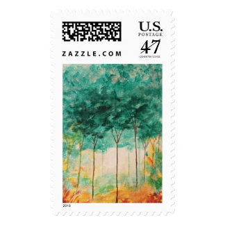 A Stroll In The Park Large Postage Stamps From Art