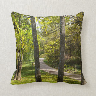 A Stroll in the Park Throw Pillow