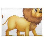 A strong lion cloth placemat