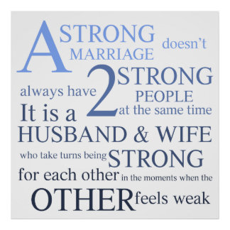 A Strong Marriage Text Design Poster