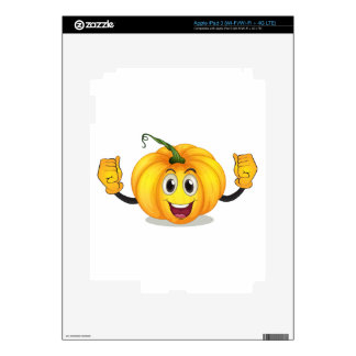 A strong squash with a smiling face iPad 3 decals