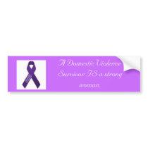 A strong woman bumper sticker