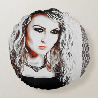 A strong Woman Round Pillow