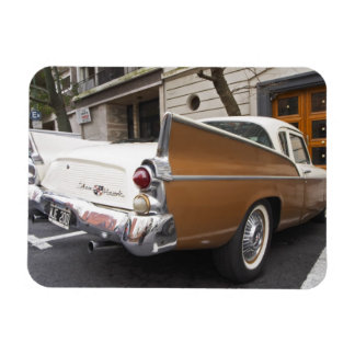 A Studebaker Silver Hawk Classic Car parked on a Rectangular Photo Magnet