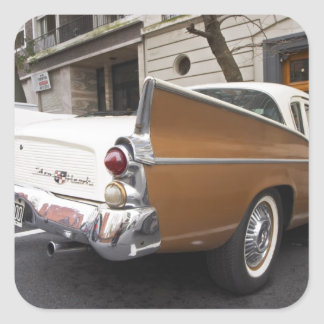 A Studebaker Silver Hawk Classic Car parked on a Square Sticker