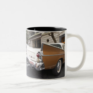A Studebaker Silver Hawk Classic Car parked on a Two-Tone Coffee Mug
