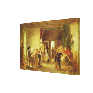 A Study for 'The Schoolroom' (oil on panel) Canvas Print