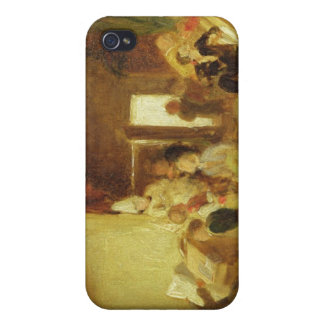 A Study for 'The Schoolroom' (oil on panel) Cases For iPhone 4