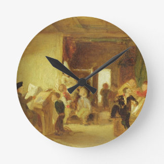 A Study for 'The Schoolroom' (oil on panel) Round Clock