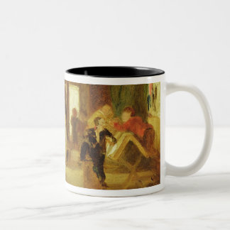 A Study for 'The Schoolroom' (oil on panel) Two-Tone Coffee Mug