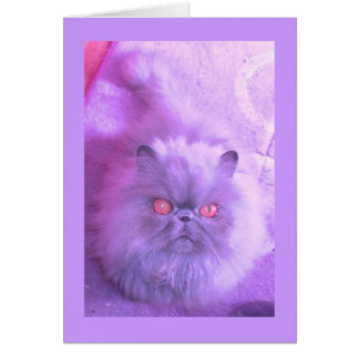 A Study In Lilac Persian Cat Card