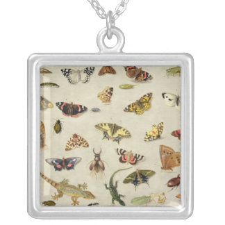 A Study of insects Silver Plated Necklace