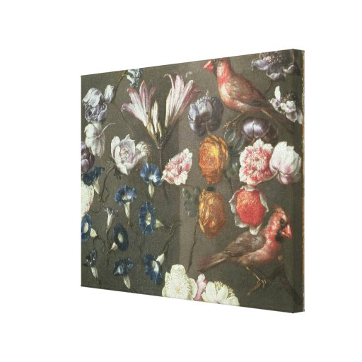 A Study of Peonies, Convolvulus, Lilies and two Fi Gallery Wrapped Canvas