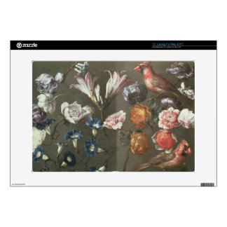 "A Study of Peonies, Convolvulus, Lilies and two Fi Decal For 15"" Laptop"