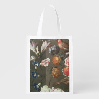 A Study of Peonies, Convolvulus, Lilies and two Fi Market Totes