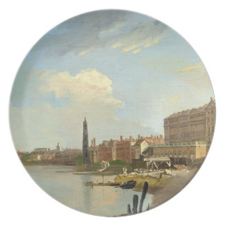 A Study of the Thames with the Final Stages of the Party Plates