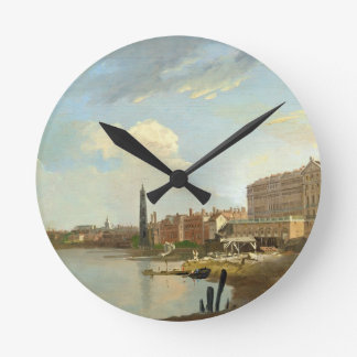 A Study of the Thames with the Final Stages of the Round Wall Clock