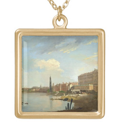 A Study of the Thames with the Final Stages of the Square Pendant Necklace