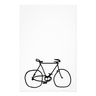 a stylized black bicycle stationery