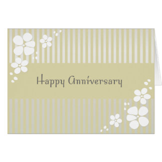 A su aniversario tarjeta de felicitación