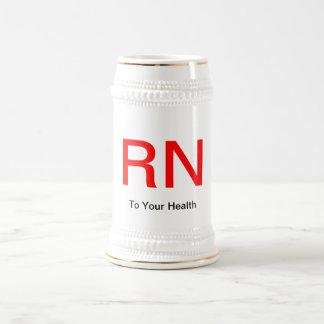 """""""A su salud"""" con el RN Jarra De Cerveza"""