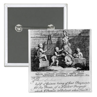 A Subscription Ticket for 'A Harlot's 2 Inch Square Button