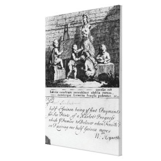 A Subscription Ticket for 'A Harlot's Canvas Print