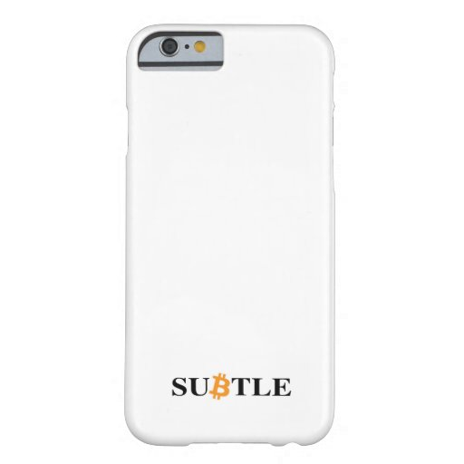 A Subtle way of supporting the network Barely There iPhone 6 Case