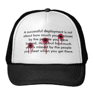 A successful deployment/BLOODY BULLET HOLES Trucker Hat
