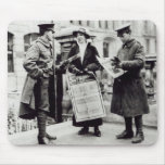 A Suffragette selling newspapers to two Mouse Pad