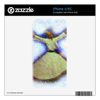 a sufi whirling sketch iPhone 4 decal