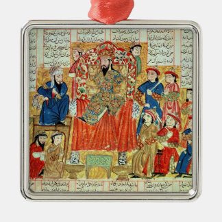 A Sultan and his Court Metal Ornament