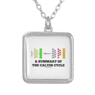 A Summary Of The Calvin Cycle (Photosynthesis) Custom Necklace