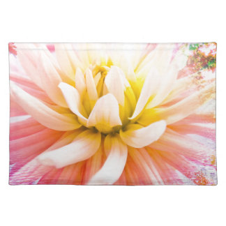 A summer Dahlia flower on vivid background Placemat