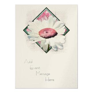"A Summer Daisy V - White Invitation 6.5"" X 8.75"" Invitation Card"