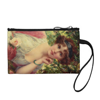 A Summer Rose by Emile Vernon Coin Wallets