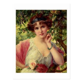 A Summer Rose - Émile Vernon Postcard