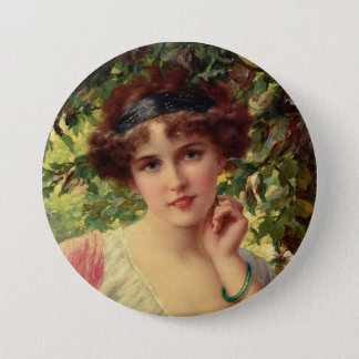 A Summer Rose Pinback Button