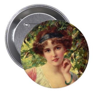 A Summer Rose Pinback Button