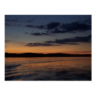 A Summer Sunset on a Lake in Northern Wisconsin Postcard