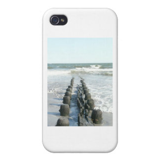 A Summer Walk on the sand at the beach in A.C. iPhone 4 Case