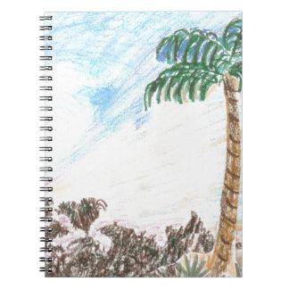 A Sun Set in Paridise Spiral Note Book