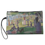 A Sunday Afternoon by Georges Seurat Wristlet Clutches