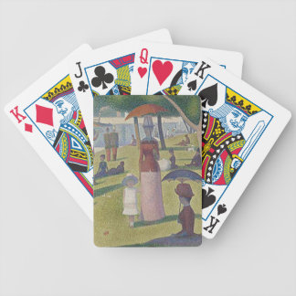 A Sunday Afternoon by Georges Seurat Bicycle Playing Cards