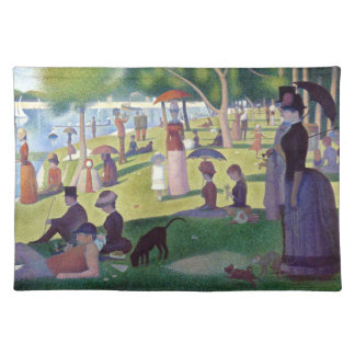 A Sunday Afternoon on La Grande Jatte by Seurat Cloth Placemat