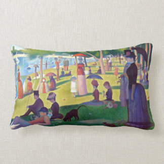A Sunday Afternoon on La Grande Jatte by Seurat Lumbar Pillow