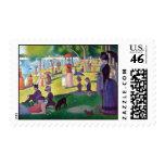 A Sunday Afternoon on La Grande Jatte by Seurat Postage Stamp