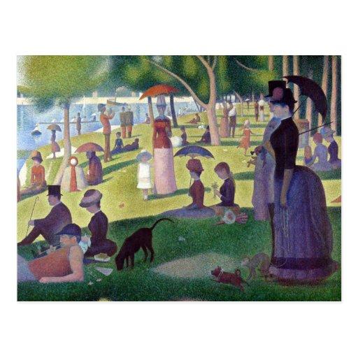 A Sunday Afternoon on La Grande Jatte by Seurat Postcard