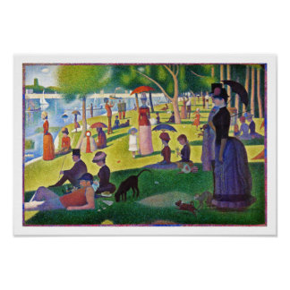 A Sunday Afternoon on La Grande Jatte by Seurat Poster