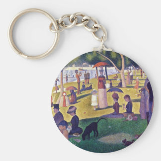 A Sunday Afternoon On The Island Basic Round Button Keychain